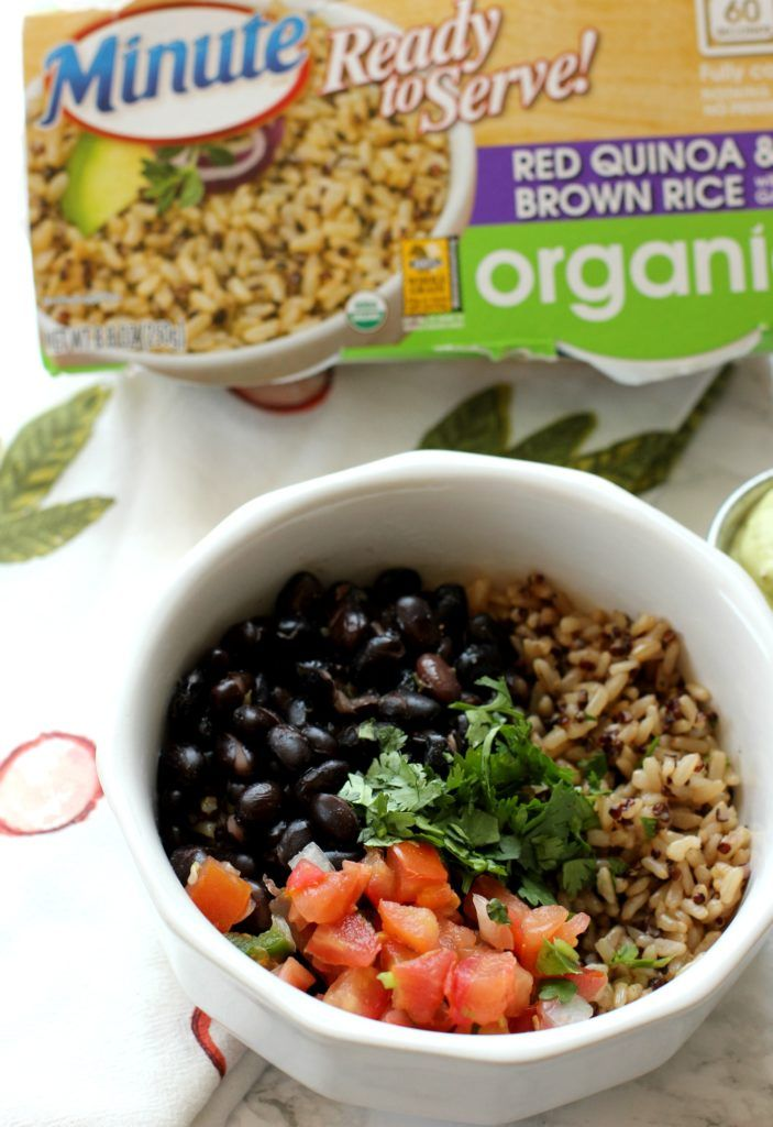 Every burrito bowl needs a great base, and these Minute Ready to Serve Organics cups are perfect. Pair it with a zesty sauce like this one from I Heart Vegetables! AD