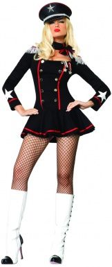 Costume comandante US Navy donna