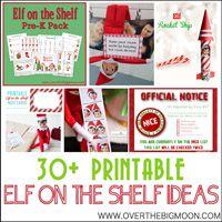 Over The Big Moon Elf on the Shelf Printables & Ideas - Over The Big Moon