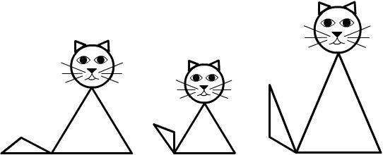 кот из геометрических фигур картинка азот кемеровчанин знает