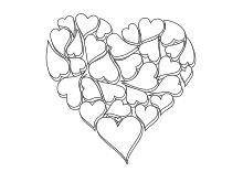 Herz aus Herzformen gezeichnet 3D Karten zum vatertag