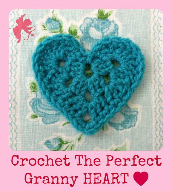 Crochet The Perfect Granny Heart - Tutorial ❥ 4U // hf