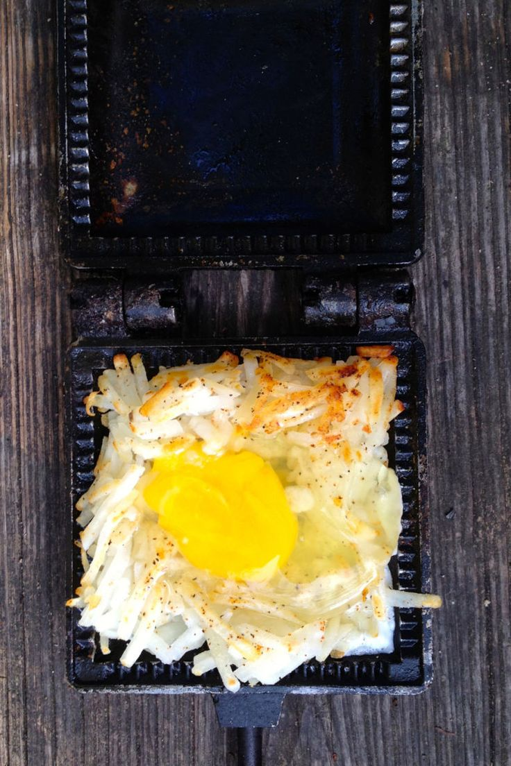 Pie Iron Eggs In A Nest