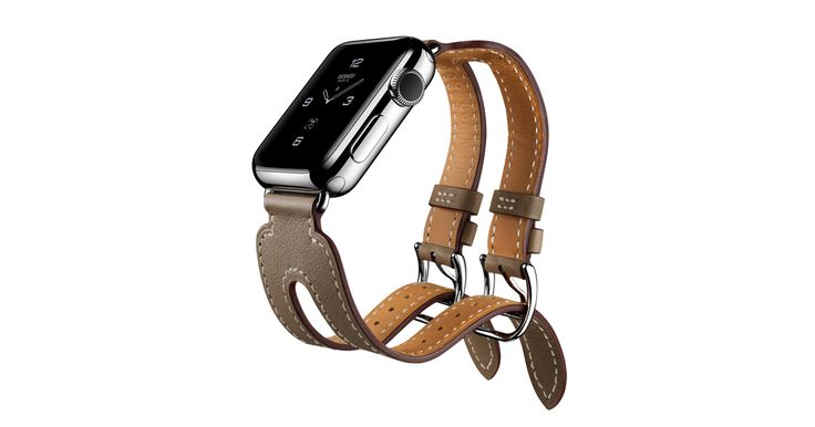 The new Apple Watch Hermès comes with handmade leather bands — Single Tour, Single Tour Deployment Buckle, Double Tour, and Double Buckle Cuff.