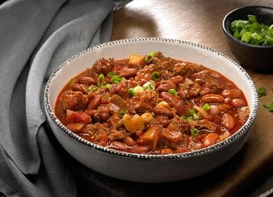 A scoop of this chili delight on game day is terrific and never boring. Great for a no-fuss, crowd-pleasing meal.