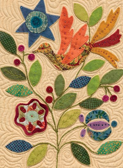 Beautiful applique - color combo and quilting! Martingale - My Enchanted Garden (Print version + eBook bundle)