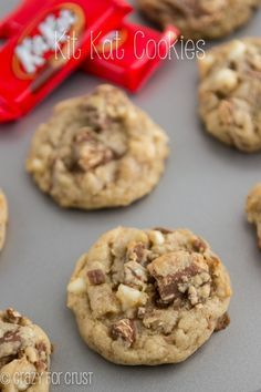 Kit Kat Cookies   crazyfocrust.com   My BEST chocolate chip cookie recipe filled with chopped Kit Kats and white chocolate!
