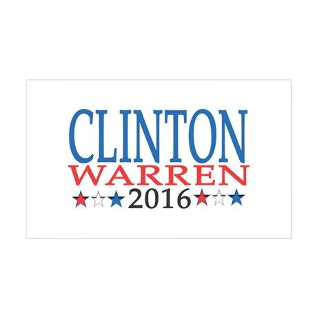 Clinton Warren Ticket 2016 Decal on CafePress.com