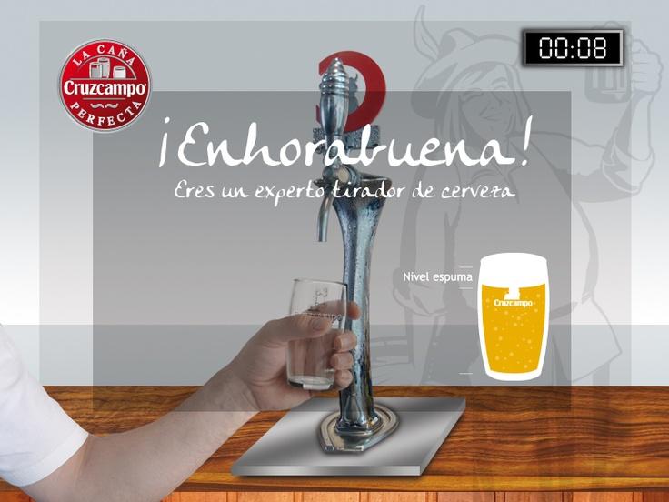 Diseño de la imagen de la Caña Perfecta de Cruzcampo. Más en http://www.lacaseta.com/ #ideas #Publicidad #Design #Diseno