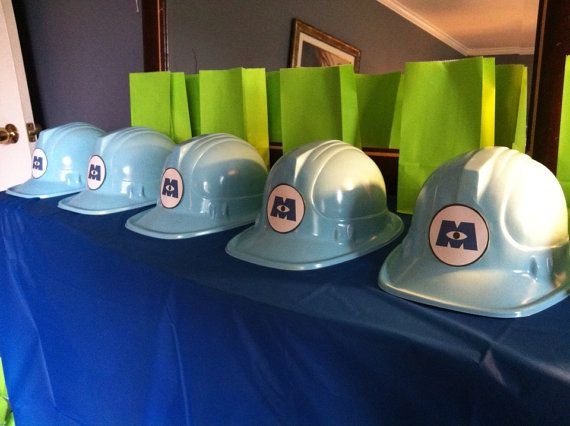 Monster's Inc. party hats monsters inc party supplies on Etsy, $30.00