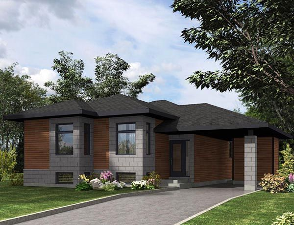 House Plan 50332 Contemporary Plan With 1064 Sq Ft 2