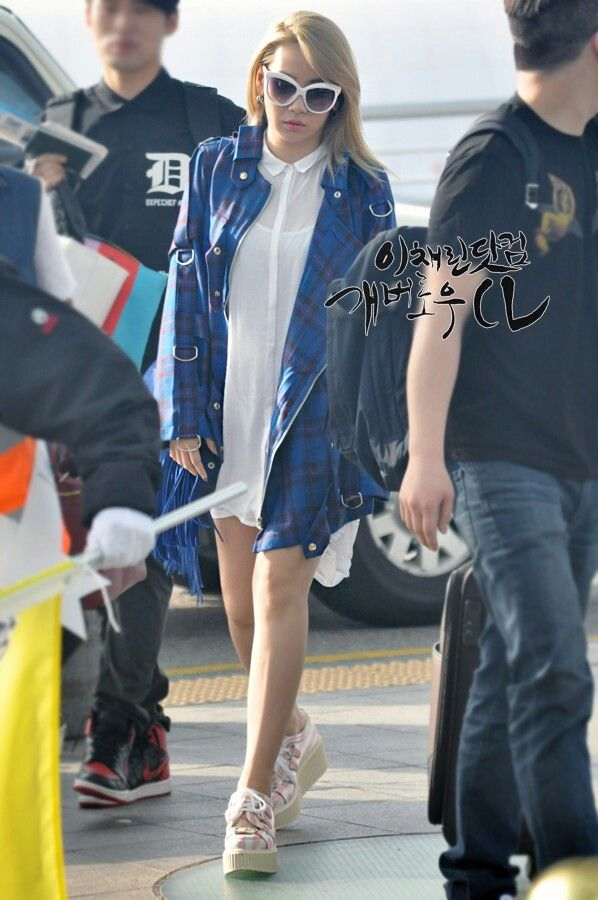 2ne1 cl airport fashion study abroad pinterest plaid
