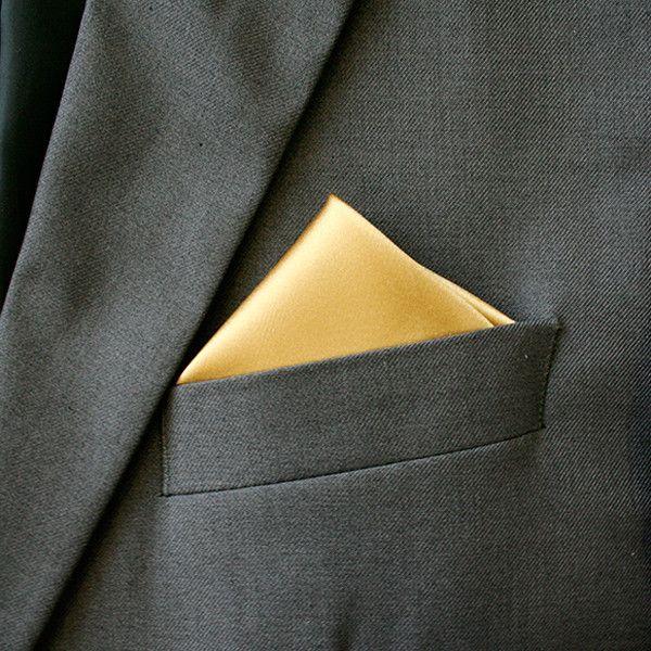 Eiffel Gold Silk Wedding Hanky