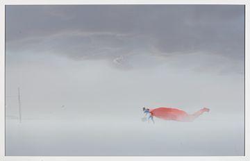 "Ole Marius Jørgensen 1976  ""#7 Today's news"",, 2014 Gislèe print, 1/6. 60x94 cm Signert bak på platen  Fra serien: ""No superhero"""