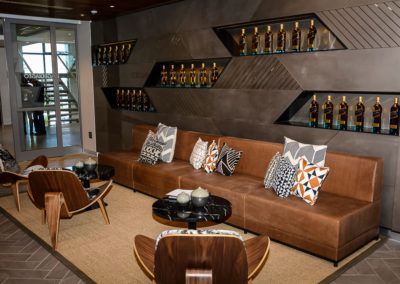 Timber and Tan Leather Reception