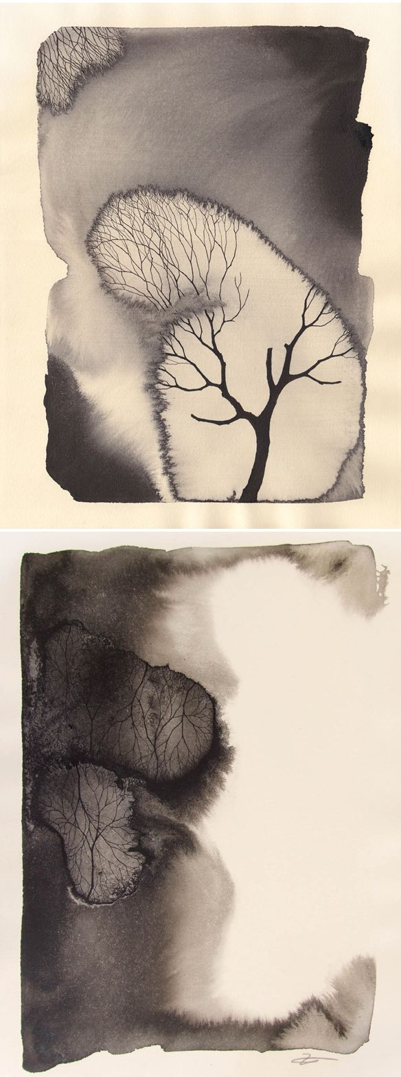 I love the structures and richness of form that's implied in these works by Pablo S Herrero | ink on paper