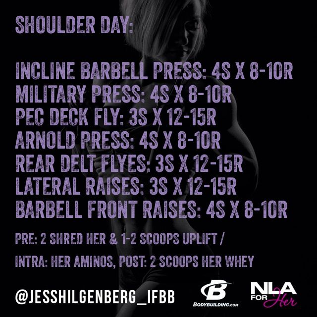 Shoulder Day Workout for YOU! #noexcuses @NLA for Her Sports Supplements for Women #teamnla @Bodybuilding.com #teambbcom