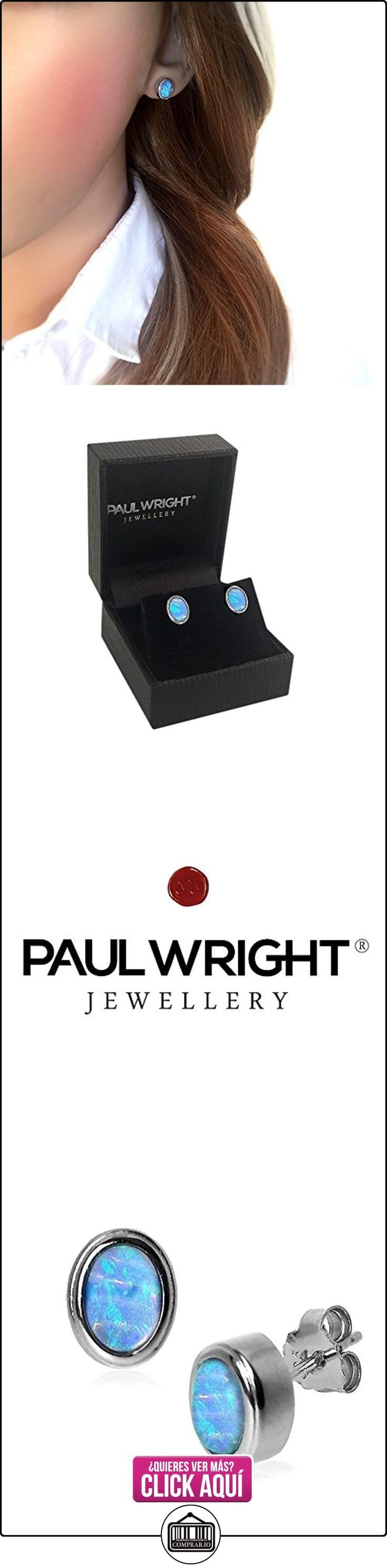 Pendientes ovalados de ópalo azul en plata de ley. Muy buena calidad, en una caja de presentación.  ✿ Joyas para mujer - Las mejores ofertas ✿ ▬► Ver oferta: https://comprar.io/goto/B007V92LGE