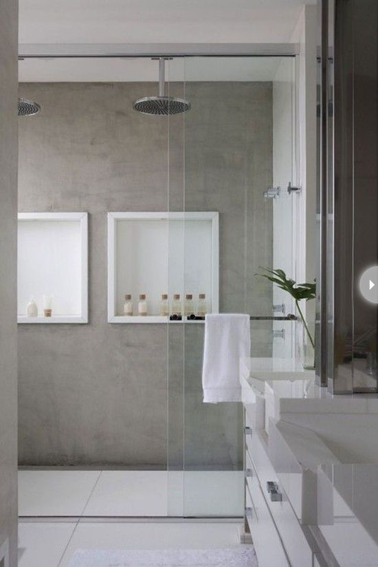 When it comes to showers in 2014, the trend is a continuous, seamless look. Flooring that runs right into the shower, rather than having to stop it at the shower curb, offers a clean, beautiful approach to bathroom design - especially when featured in a smaller space.