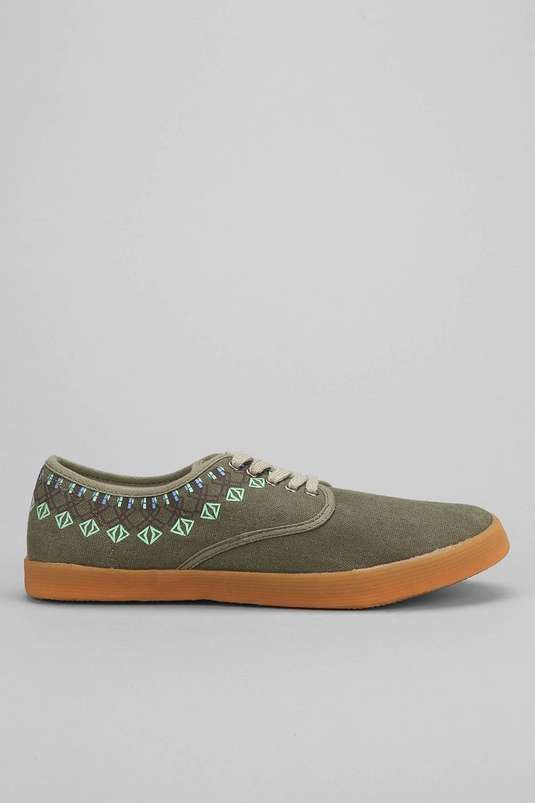 Urban Outfitters | Placed Print Plimsol Sneaker #urbanoutfitters #sneakers