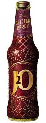 Britvic J2O Glitter Berry redesigned bottle for festive season
