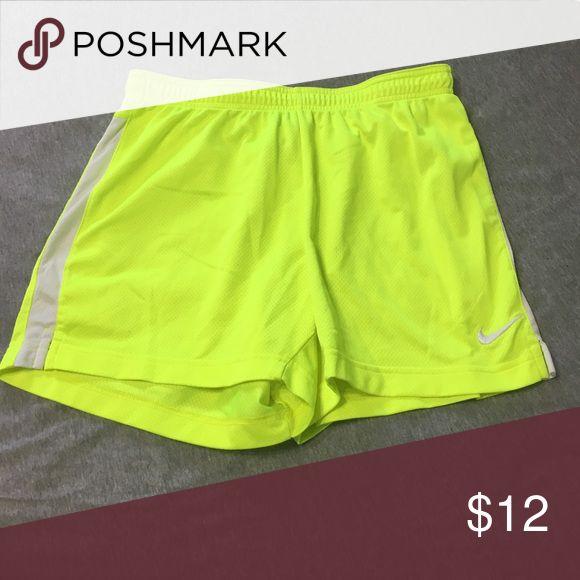 Nike Soccer Shorts Neon yellow; dri-fit Nike Shorts