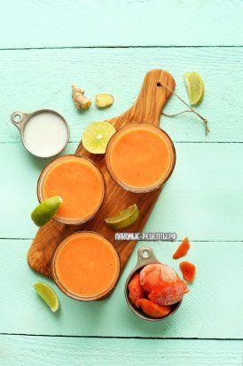 Кокосовый смузи с папайей