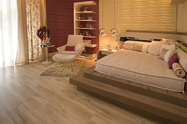 quarto de casal com piso eucafloor evidence decapê                                                                                                                            Mais