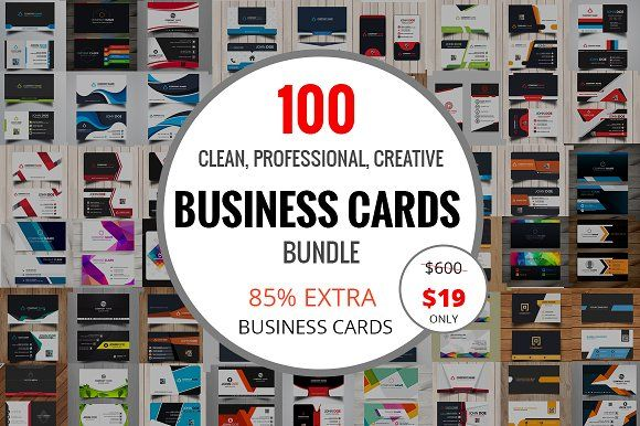 100 Clean Business Card Bundle by Imagine Design Studio on @creativemarket