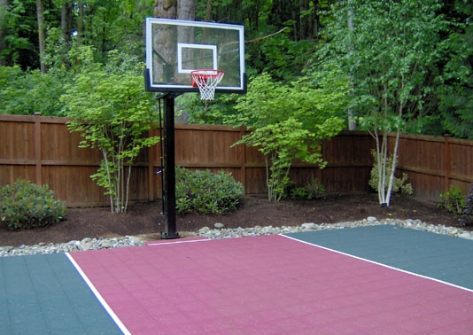 Sports court great for the backyard could even play for Backyard sport court ideas