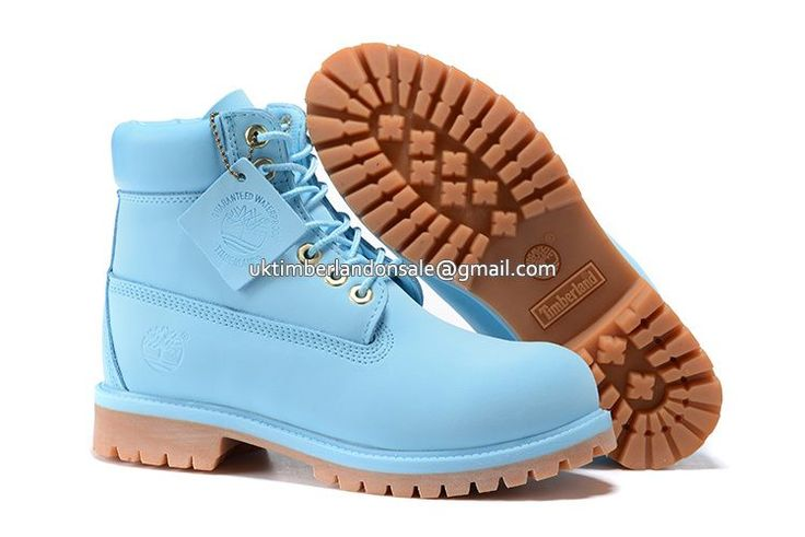 UK Timberland Women 6 Inch Premium Waterproof Boot Baby Blue £ 69.59