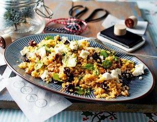Warmer CouscousSalat mit Ziegenkäse