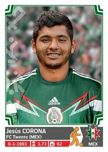 Jesus Corona of Mexico. Copa America 2015 card.