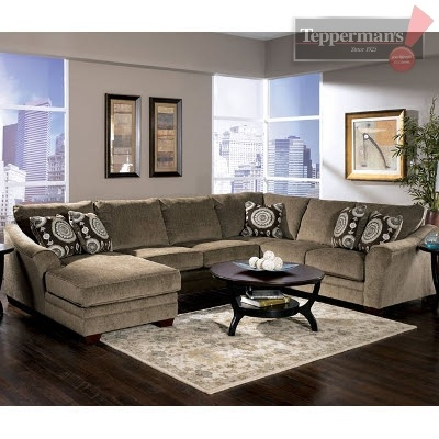 Perfect sectional for our finished rec room for the home for Albany st germain sectional sofa chaise