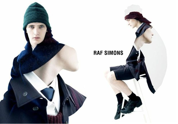 Raf Simons's Fall 2012 Menswear Campaign Features Some Freaky Photoshop