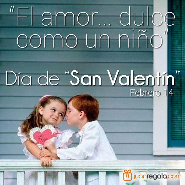 El amor... dulce como un niño... Feliz día de San Valentín.