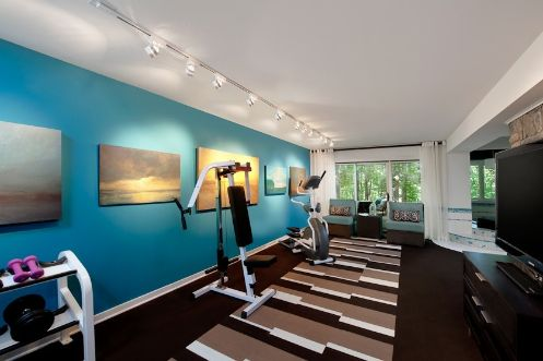 Good color to paint workout room home gym on pinterest for Workout room colors