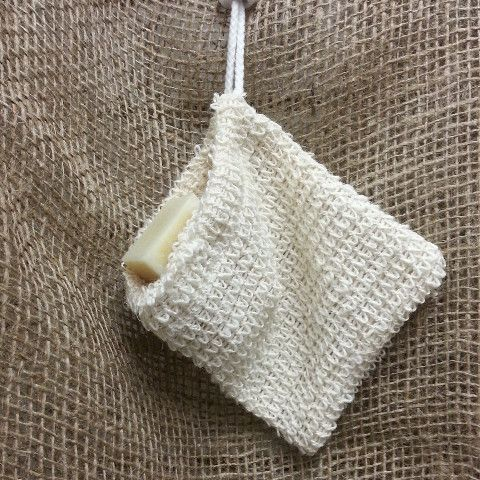This all natural sisal soap pouch makes a terrific soap saver and exfoliating washcloth in one.  Great way to use up slivers of soap that are difficult to manage.