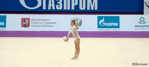 "rgforever: "" Aleksandra SOLDATOVA - Ball AD & Balance Element Catch of Ball w/o Hands & Sight Utyasheva Balance w/ 180° Rotation © RGYMRUSSIA """
