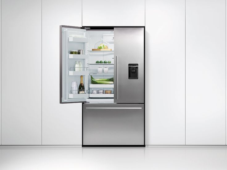 Fisher & Paykel French Door Fridges have been designed to maximise space as well as access. French Door fridges bring theatre into the kitchen with unobstructed access to wide-open shelf spaces. Below, a spacious full-extension drawer and storage bins provide ergonomic solutions for freezer items.