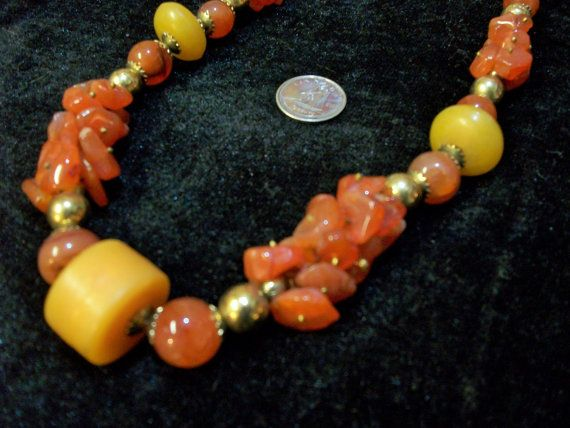 Bohemian Carnelian Necklace with by Dare2beUNIQUE