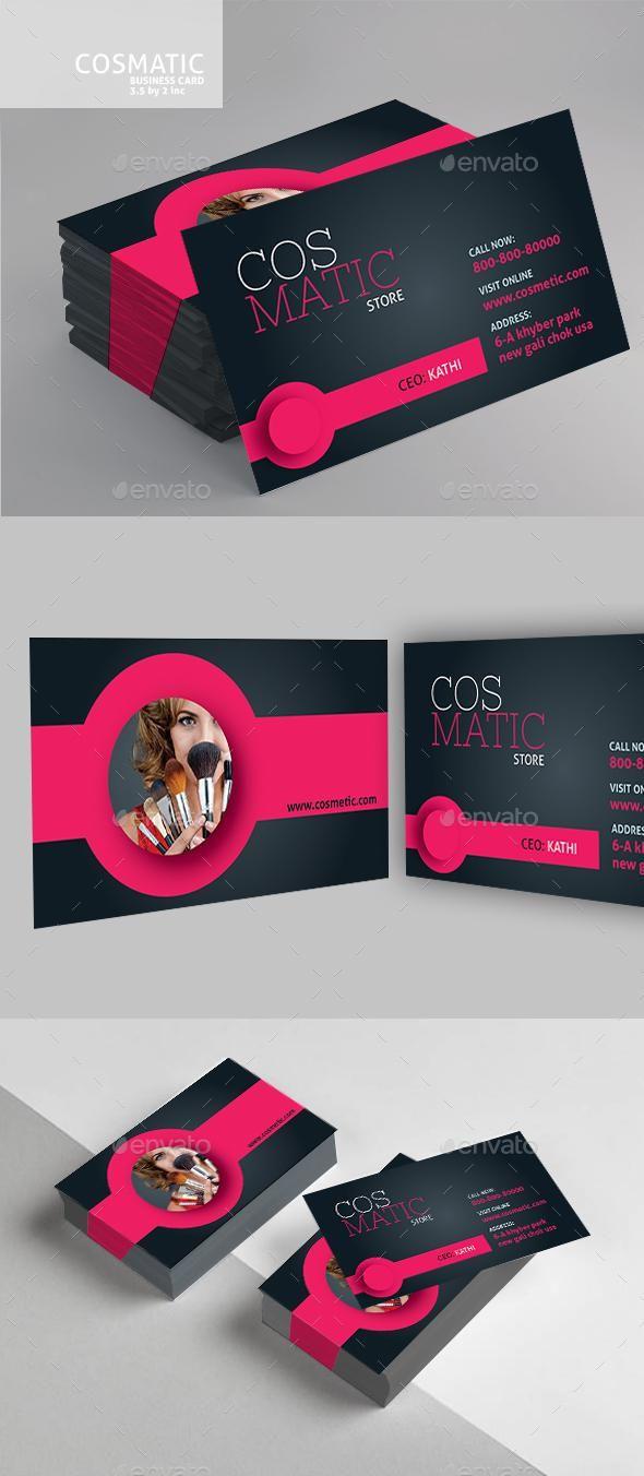Cosmetic Business Card Cosmetic Business Cards Makeup Business Cards Business Cards Beauty