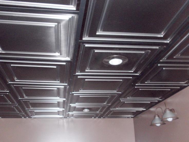 painting drop ceiling tiles black can have asbestos vinyl 2x2 metal