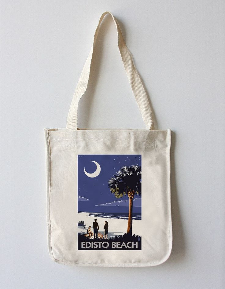 Edisto Beach, South Carolina - Palmetto Moon - Lantern Press Artwork