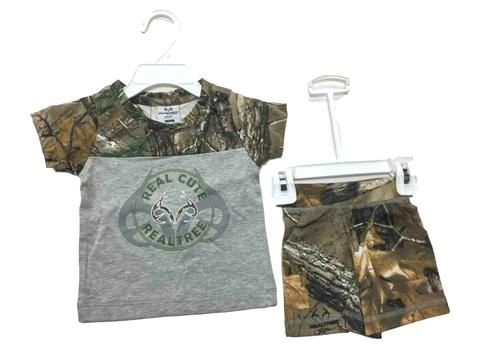 Shop Realtree Camouflage Colosseum BABY INFANT Gray T-Shirt & Camo Shorts Outfit Set