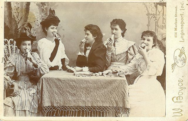 Girls with Apples Bananas and pie by Kingkongphoto & www.celebrity-photos.com, via Flickr--logansport,indiana