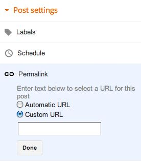 Know to set up custom permalinks in blogspot with your desired keywords on the post  url. Enhance your site traffic by using the correct optimization with blogger.