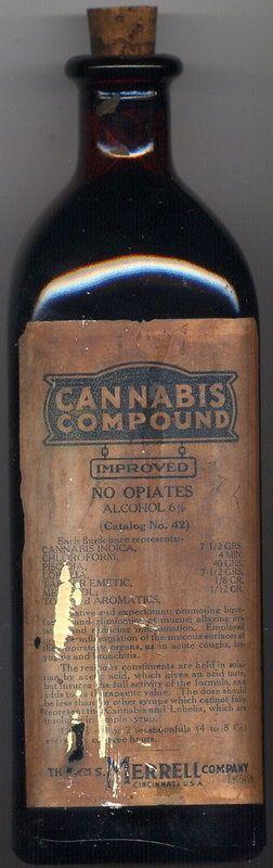 """Según la etiqueta """"no contiene opio"""", pero sí cannabis, cloroformo y alcohol (1930)"""