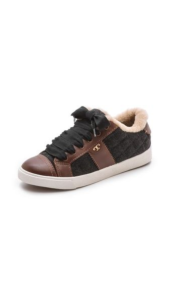 Tory Burch Oliver Flannel Sneakers