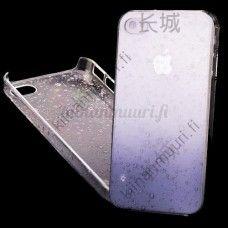 Liila läpikuultava kristalli/vesipisarat taka suojakuori, iPhone 4/4S